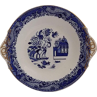 Blue & White Chinoiserie Style Dessert Plate
