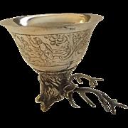 Marvelous German 800 Silver Antique Stirrup Cup
