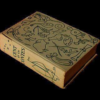 1958 French children's book, 'Cent et Un Contes', 101 stories by classic authors, 16 gorgeous illustrations / plates