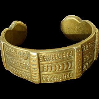 Heavy bronze cuff bracelet, African - Berber or Tuareg, unisex