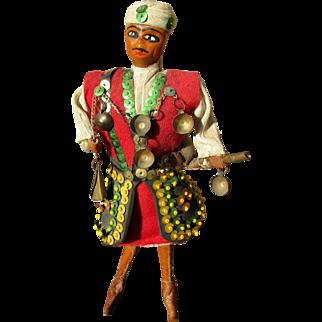 60s Arabian / Berber / Moroccan figurine, male water bearer doll