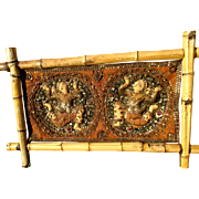 Antique Burmese Kalaga tapestry / embroidery, ornate handmade Asian textile