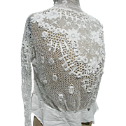 Antique Edwardian handmade Irish crochet lace blouse top bodice 1910 - apparently unworn