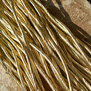 30 skeins antique French / German pale gold tone fine embroidery thread