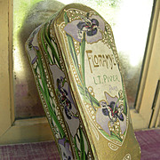 Vintage French Art Nouveau 1920s embossed cardboard Paris perfume box - Floramye