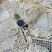Collection 15 antique French handmade lace items - doilies panels appliques