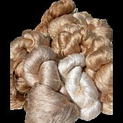 Huge lot: 14 large skeins vintage French 1920s pure Dupion silk thread - Manufacture des Soies, Lyon, France
