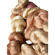 Huge lot: 10 large skeins vintage French pure silk very fine thread - Manufacture des Soies, Lyon