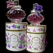 "2 bottles vintage French Violet scent ""Violettes de Toulouse"" in original boxes"