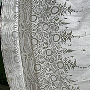 Exquisite antique Victorian hand embroidered muslin whitework skirt