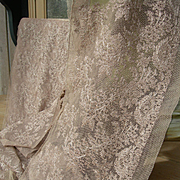 Long, wide length vintage 1920s French embroidered tulle lingerie lace 8 metres (315 inches)