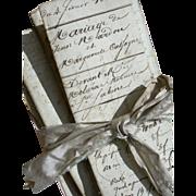 Bundle 8 antique letters early 19th Century - Napoleon Bonaparte 1814 - 1828