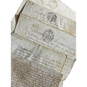 Bundle 5 antique letters 18thC French Revolution Marie Antoinette 1735 - 1780