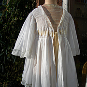 1890s French unworn lace trimmed morning deshabille lisieuse jacket