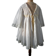 1890s French unworn lace trimmed morning deshabille lisieuse jacket