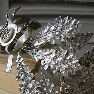 Exquisite 19th Century French silvered metal wedding processional crown tiara
