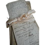 Bundle 12 antique letters 18th century French Revolution Marie Antoinette 1760s - 1780s