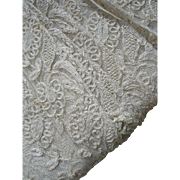 360 inches - approximately 10 yards vintage French 1920s embroidered tulle lingerie lace edging trim