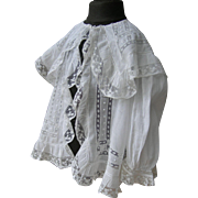 Divine French 19th century tiny toddler's lace jacket