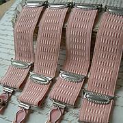 Set of 4 Edwardian lingerie corset garter adjustable stocking straps