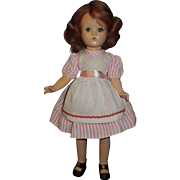 """11"""" Composition strung doll, unknown maker"""