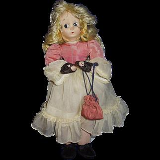"Madame Alexander cloth doll 10 1/2"" Little Shaver 1940-44"