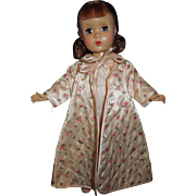 "1950's Madame Alexander 14"" Maggie doll in tagged robe and gown"