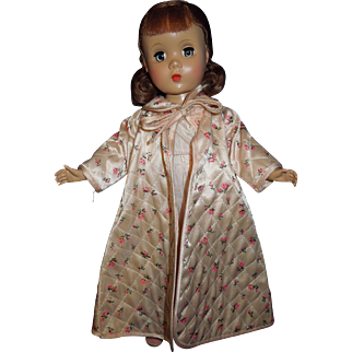 """1950's Madame Alexander 14"""" Maggie doll in tagged robe and gown"""