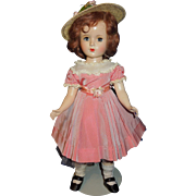 "Madame Alexander 14"" Margaret faced 1950's doll, tagged dress"