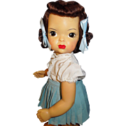 """Vintage 16"""" Patent Pending Terri Lee doll in tagged outfit"""