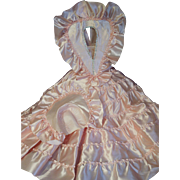 Satin Boudoir doll dress, hat, collar in beautiful condition
