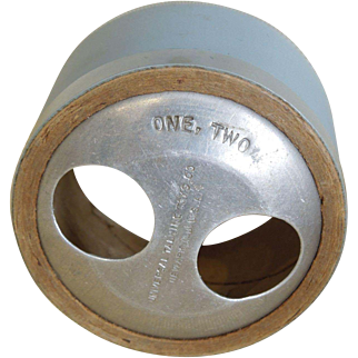 """Phonograph cylinder for Dolly Rekord, Mae Starr, and Effanbee Lovums Composition dolls """"One, Two"""""""