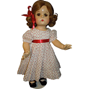 "Madame Alexander 18"" 1940's composition Jeannie Walker doll"