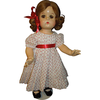 "Madame Alexander 18"" 1940's composition Jeannie Walker doll"