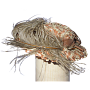 Vintage woven straw doll hat, perfect for a fashion doll