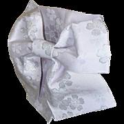 Cherry Blossom Japanese Obi, Kimono Belt, Wedding Sash, Pre-tied