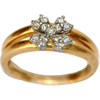 Diamond 18 Karat Gold Engagement Ring
