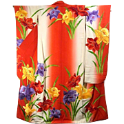 Embroidery Japanese Kimono Furisode