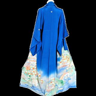 Gion Geisha Kimono, Japanese Silk Robe