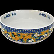 Yoshidaya Kutani Porcelain Bowl, Japan Traditional Serve ware, Home decor
