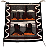 Navajo Handwoven Pictorial Rug, Native American Tapestry