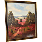 Flowery Meadow Oil Painting, Western American Art, Signed
