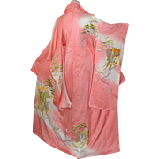 Princess Japanese Kimono Silk Robe, Imperial Embroidery
