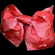 Pre-tied Kimono Obi Sash Bow, Traditional Japanese Belt, Red, Ceinture