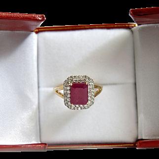Ruby 3.15ct Emerald Cut Ring