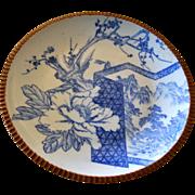 Sometsuke Blue White Meiji Pottery Charger Platter