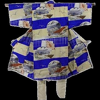Military WWII Kimono, Trench Art, Collectible, Boys Uniform