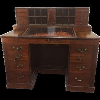19th Century Mahogany Mechanical Architect Desk W/ Large Secret Compartments