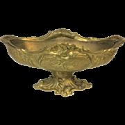 Large French Bronze Art Nouveau Footed Figural Center Bowl Centerpiece Planter