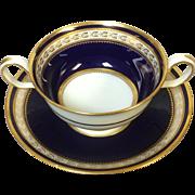 Set of 6 Copeland Spode Bouillon Cup Cobalt Blue Gold Decoration R3617 (6 available)